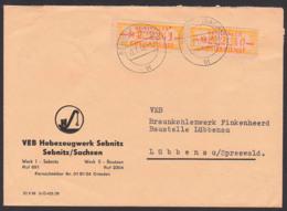DDR ZKD B16 M(2), Fernbrief Sebnitz Sachsen VEB Hebezeugwerk Nach Lübben Braunkohlenwerk Finkenheerd - Dienstpost