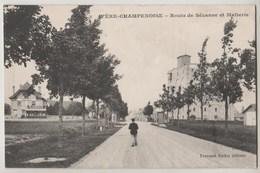 CPA 51 FERE CHAMPENOISE Route De Sézanne Et Malterie - Fère-Champenoise