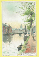 * Dendermonde - Termonde (Oost Vl) * (Belgique Pittoresque, 31-48 - Lith. JL Goffart) Canal, Quai, Bateau, Rare, Couleur - Dendermonde