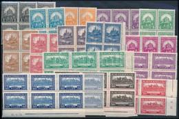 ** 1926 Pengő-fillér (I.) Sor 6-os Tömbökben (150.000) (ráncok / Creases) - Timbres