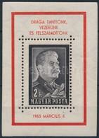 ** 1953 Sztálin Blokk Kézisajtós (130.000) / Mi Block 23 II - Timbres