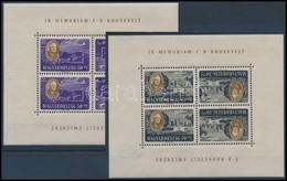 ** 1947 Roosevelt Kisívsor Fordított Képállással, Szép állapotban (130.000) / Mi 985-992 Tete Beche Mini Sheets, Nice Co - Timbres