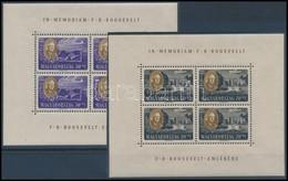 ** 1947 Roosevelt Kisívsor, Szép állapotban (90.000) / Mi 985-992 Mini Sheets, Nice Condition - Timbres