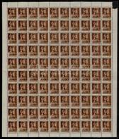 ** 1945 Nagyvárad I. Hadvezérek 1P/4f Teljes 100-as ív, Az összes Típusösszefüggéssel. Garantáltan Valódi, RRR! (72.000) - Timbres