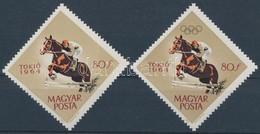 ** 1964 Tokiói Olimpia 80f Arany Színnyomat (olimpiai Karikák) Nélkül / Mi 2034, Gold Colour Print (olympic Rings) Omitt - Timbres