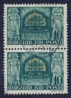 O 1940 Kelet Visszatér Pár, Az Alsó érték 'KELETU' Tévnyomattal, Bal Alsó Saroknál Kis Elvékonyodás (70.000) / Thin Pape - Timbres