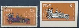 (*) 1970 Az Autó Története Vágott ívszéli Vágott 2Ft A Piros-lila-sárga Színek Nélkül + Támpéldány - Timbres