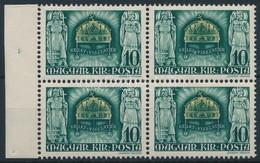 ** 1940 Kelet Visszatért ívszéli Négyestömb, Benne A 'KELETU' Tévnyomat (60.000) - Timbres