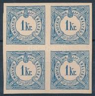 ** 1888 Hírlapilleték 1kr Négyestömb A Milleniumi Albumból, Kartonpapíron, Nagyon Ritka! - Timbres