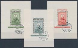 O 1951 80 éves A Magyar Bélyeg Blokk Sor (42.000) - Timbres