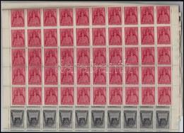 ** 1943 Templom (III.)  Teljes Hajtott 100-as ívsor (40.000) - Timbres