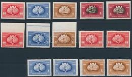 ** 1949-1950 UPU 'B', 2 X 'C', 'D' Sorok + Blokkból Kitépett + Kivágott Bélyegek (38.500) - Timbres