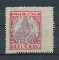 ** 1921 Koronás Madonna Látványosan Szélesre Fogazott 3000K Bélyeg - Timbres