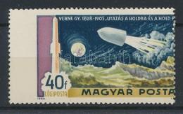 ** 1969 A Hold Meghódítása 40f Látványosan Elfogazott Bélyeg - Timbres