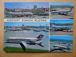 AEROPORT / FLUGHAFEN / AIRPORT    ZURICH KLOTEN      DC 9 / B 747  SWISSAIR - Aerodromes