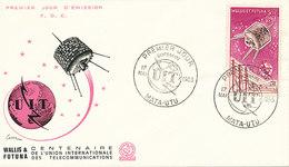DC-1449 - FDC 1965 - 100 YEARS TELECOMMUNICATION ITU - UIT - MORSE TELEPHONE TELEGRAPH SATELLITE - WALLIS & FUTUNA - Telecom