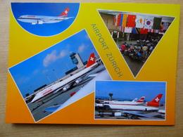 AEROPORT / FLUGHAFEN / AIRPORT    ZURICH KLOTEN      B 747  / DC 10 SWISSAIR - Aerodromi