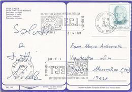 Monaco 1989 Monte Carlo International Dog Exhibition FCI Viewcard - Honden