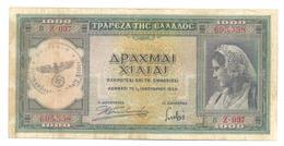 Greece 1000 Drachmai 1939 - Grèce