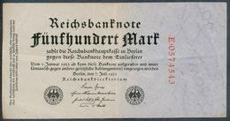 P74 Ro71a DEU-82b 500 Mark 7.7.1922 Billet Craquant - [ 3] 1918-1933 : Repubblica  Di Weimar