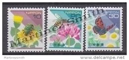 Japan - Japon 1997 Yvert 2388-90, Definitive Set, Fauna & Flora - MNH - 1989-... Emperador Akihito (Era Heisei)