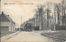 Houtaing (ATH) - RARE - Le Coucou - Arrêt Du TRAM - TRAMWAY - V.P.F. - Circulé - Etat: Voir 2 Scans. - Ath