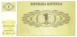SLOVENIA P.  1a 1 T 1990 UNC - Slovénie