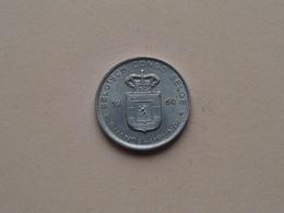 1960 - 1 Franc ( KM 4 ) Uncleaned ! - Congo (Belge) & Ruanda-Urundi