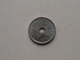 1921 - 10 Cent ( KM 18 ) Uncleaned ! - Congo (Belgian) & Ruanda-Urundi