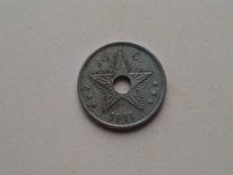 1911 - 20 Cent ( KM 19 ) Uncleaned ! - Congo (Belgian) & Ruanda-Urundi