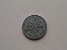 1929 - 50 Cent ( KM 22 ) Uncleaned ! - Congo (Belge) & Ruanda-Urundi
