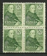 ESPAÑA 1947 ** MNH PADRE  FEJOO  EDIFIL 1011 ** MNH BL4 - Christianity