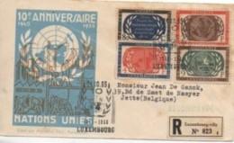 Lettre Recommandée  Pour Le 10e Anniversaire Des Nations Unis - Marcophilie - EMA (Empreintes Machines)