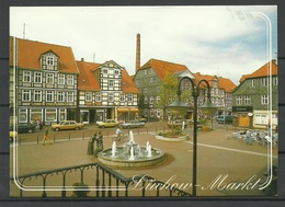 Germany LÜCHOW Markt Brunnen Fontane Sent With Stamp - Luechow