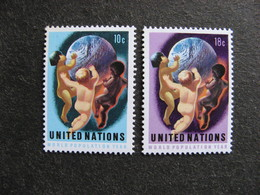 O.N.U. Siège De New-York: Paire N° 245 Et N° 246 Neufs XX - New York -  VN Hauptquartier