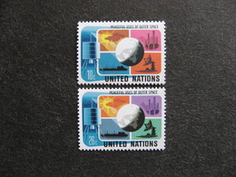 O.N.U. Siège De New-York: TB Paire N° 249 Et N° 250 Neufs XX - New York -  VN Hauptquartier