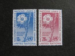 O.N.U. Siège De New-York: TB Paire N° 257 Et N° 258 Neufs XX - New York -  VN Hauptquartier