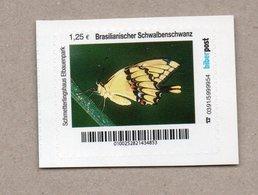 Privatpost Biberpost  Schmetterling - Brasilianischer Schwalbenschwanz  (Wert: 1,25 EUR) - Schmetterlinge