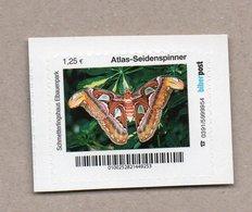 Privatpost Biberpost  Schmetterling - Atlas-Seidenspinner (Attacus Atlas)  (Wert: 1,25 EUR) - Schmetterlinge