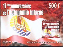 Polynésie Française BF 26 Autpnomie Interne  Neuf ** TB MNH Faciale 4.19 - Blocs-feuillets