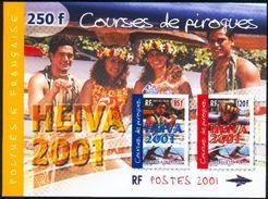 Polynésie Française BF 27 Course De Pirogues  Neuf ** TB MNH Faciale 2.09 - Blocs-feuillets