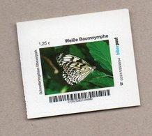 Privatpost Biberpost  Schmetterling - Weiße Baumnymphe (Idea Leuconoe)  (Wert: 1,25 EUR) - Schmetterlinge