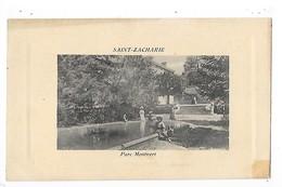 SAINT  ZACHARIE  (cpa 83)   Place Du Quatre- Septembre  -  L 1 - Saint-Zacharie