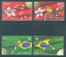 HONG KONG -  MNH/**- 2009 - BRAZIL CHINA FOOTBALL  - Yv 1435-1438 -  Lot 18293 - 1997-... Région Administrative Chinoise