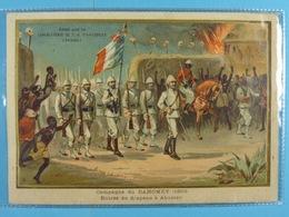 Chocolat D'Aiguebelle Campagne De Dahomey (1893) Entrée Du Drapeau à Abomey (13,5 Cm X 9,5 Cm) /4/ - Aiguebelle