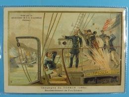 Chocolat D'Aiguebelle Campagne Du Tonkin (1884) Bombardement De Fou-Tchéou (13,5 Cm X 9,5 Cm) /6/ - Aiguebelle