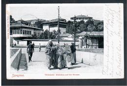 BOSNIA Sarajevo Türkische Mädchen Auf Der Strasse Ca 1905 OLD POSTCARD 2 Scans - Bosnia And Herzegovina