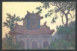 +++ CPA - Asie - VIETNAM - ANNAM - Pagodon D'AN-CU'U - Illustrateur Sarasin   // - Viêt-Nam