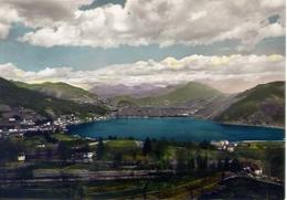 Lago Di Lugano - Ponte Tresa E Monti Svizzeri - Formato Grande Viaggiata – E 9 - TI Ticino