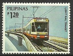 PHILIPPINES 1984 TRAINS LIGHT RAILWAY TRANSIT SET MNH - Philippines